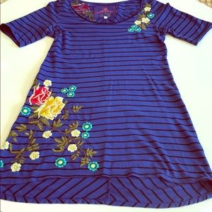 Johnny Was Blue Tunic XS